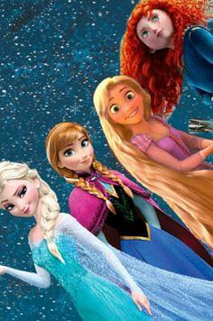 Elsa Anna Rapunzel Merida