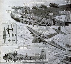 http://ww2today.com/wp-content/uploads/2013/04/Me-323-Gigant.png The Illustrated London News overview of the Me 323 Gigant , drawn by G H Davis, published in 1943. Allied fighter pilots would have been fully aware of where the fuel tanks were located within the wooden frame.