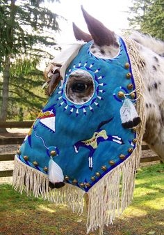 NATIVE AMERICAN HORSE MASK: awesome horse mask