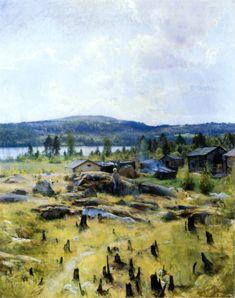 EERO JARNEFELT  A Landscape from Northern Savo (A Day in July, 1891)