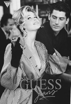 Claudia Schiffer by Ellen Von Unwerth for Guess Jeans Top Models, Guess Models, Claudia Schiffer, Irina Shayk, Guess Jeans, Naomi Campbell, Photo Trop Belle, 90s Fashion, Fashion Models