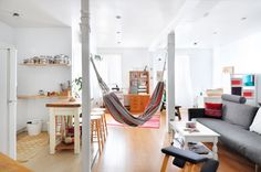 """Lisa lives in a 540 square foot Montreal studio apartment, and calls her style """"Bohemian minimalist."""""""