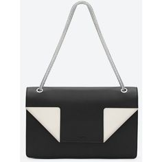 Classic Saint Laurent Medium Betty Bag In Black And White Leather (2,060 CAD) found on Polyvore