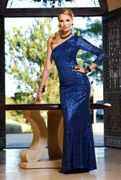 Scala 2012 Royal Blue Long Prom Gown 17085