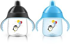 Philips Avent My Penguin Sippy Cup Blue 9 Ounce Pack of 2 Stage 2 -- Want additional info? Click on the image.