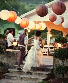 Fall colors, paper lanterns.