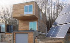 Example of prefab home made of shipping containers (in Brighton, Ontario) - 2 Bedrooms, 2 bathrooms, 1280 sf (118 m2). Built by Meka World.