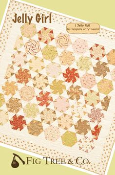 FIG TREE QUILTS JELLY GIRL QUILT PATTERN 68 X 69