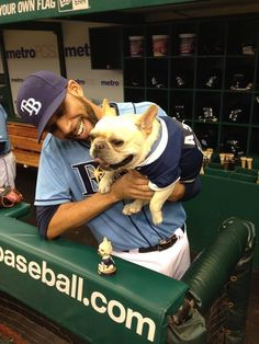 David Price of the Tampa Bay Rays and his dog, Astro