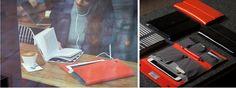 """[리타몰] 노모런던 노매드 미니 래더 - 8"""" 태블릿을 위한 최상의 프리미엄 클러치"""
