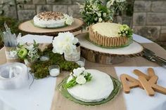 Sometimes less is more. Keep it simple with DIY wedding cakes! {photo credit Anchored Souls Photography}