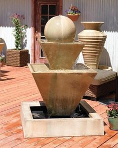 outdoor stone fountains for sale Fountains For Sale, Garden Water Fountains, Stone Fountains, Water Garden, Patio Fountain, Wall Fountains, Fountain Ideas, Modern Outdoor Fountains, Outdoor Stone