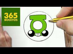 COMO DIBUJAR ESCUDO GREEN LANTERN KAWAII PASO A PASO - Dibujos kawaii faciles - draw a GREEN LANTERN - http://www.comics2film.com/dc/super-heroes/green-lantern/como-dibujar-escudo-green-lantern-kawaii-paso-a-paso-dibujos-kawaii-faciles-draw-a-green-lantern/ #comicmovies #superheroes #marvel #dc