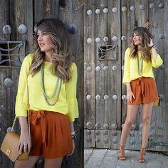 Get this look: http://lb.nu/look/7436828  More looks by Helena Cueva: http://lb.nu/miaventuraconlamoda  Items in this look:  Buylevard Top, Zara Shorts, Mango Heels   #casual #chic #street