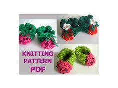 BERRY baby booties KNITTING PATTERN easy | Craftsy