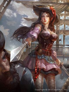 Pirates:  #Pirate wench ~ Sirvienta pirata evolved legend of the cryptids.