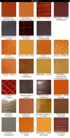 Reference: Sample of Hermes Colour Chart..... - PurseForum