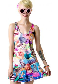 #JapanL.A. #Kittens Ice Cream Tank Dress