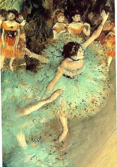 Degas - You can usually find prints and if framed in flea market found mirror and mat it looks very elegant for a little bit of money.
