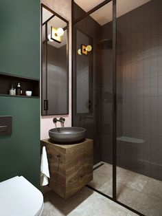 18 Amazing Bathroom Decor Ideas for 2019 That You Can't Miss Dream Bathrooms, Beautiful Bathrooms, Modern Bathroom, Small Bathroom, Master Bathroom, Bad Inspiration, Bathroom Inspiration, Bathroom Toilets, Bathroom Faucets