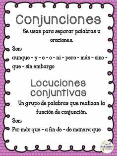 Conjunciones Bilingual Classroom, Spanish Classroom, Learning Spanish For Kids, Early Learning, Spanish Grammar, Spanish Language, Spanish Anchor Charts, Spanish Posters, Elementary Spanish