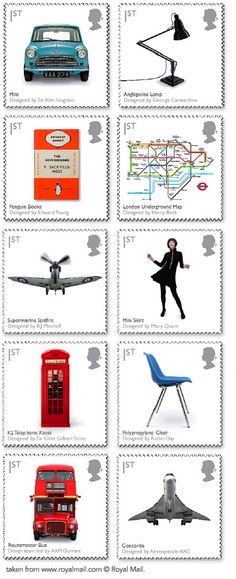 British Design Classics Royal Mail Postage Stamps, 2009