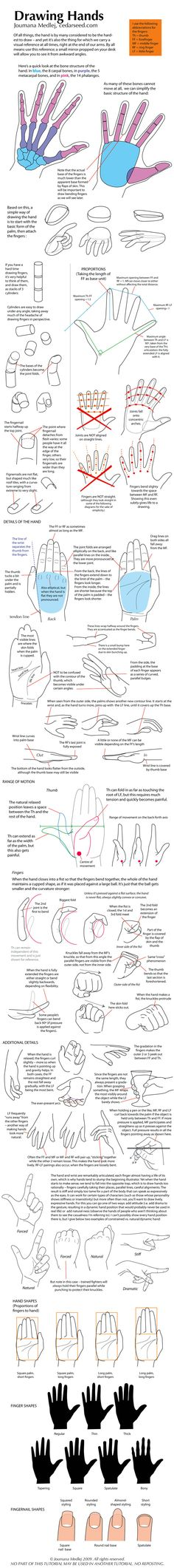 hand tutorial, great lessons for drawing hands. I stink at hands.
