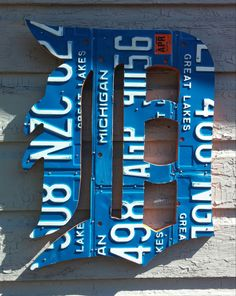 Detroit Tigers Sign with Michigan Plates by LicensePlateDesigns on Etsy