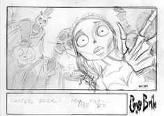 Living Lines Library: Corpse Bride - Storyboards Animation Storyboard, Storyboard Artist, Computer Animation, Character Design Animation, Character Design References, Tim Burton Animation, Corpse Bride Art, Laika Studios, Tim Burton Characters