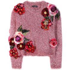 Dolce & Gabbana Metallic Sweater With Appliqué