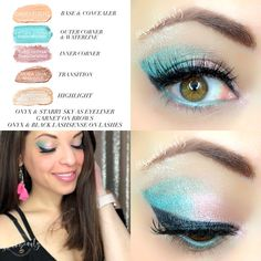 SUMMER PINK FULL SENEGENCE FACE - Seafoam Shimmer, Shell Glitter, Moca Java Shimmer & Sandstone Pearl Shimmer ShadowSense on lids, Onyx & Starry Sky EyeSense as eyeliner, Garnet ShadowSense on brows, Onyx (as lash builder) with Black LashSense on Lashes, Summer Fun & Nude Pink LipSense, Mixed 1:1 with Pink Sand Gloss from the LIMITED EDITION COASTAL COLLECTION! -  Independent LipSense/SeneGence Distributor #348931 swakbeauty.com @swakbeauty