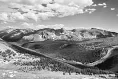 FOREST CANYON ROCKY MOUNTAIN NATIONAL PARK COLORADO BLACK AND WHITE Mountain Photography, Framing Photography, Fine Art Photography, Canvas Pictures, Pictures Images, Print Pictures, Rocky Mountains Colorado, Mountain Landscape, Landscape Art