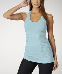 Another great find on #zulily! Marika Blue Fish Ruched Racerback Tank by Marika #zulilyfinds