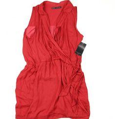 Rochie dama Zara rosie Marime: X, XL Pret: 50 Lei Zara, Floral, Polyvore, Image, Fashion, Moda, Fashion Styles, Flowers, Fashion Illustrations