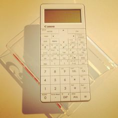 The most elegant calculator I've seen in a long time. Dress up your desk!     [Photo by bjp1854]