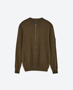Image 8 of KNIT BOMBER JACKET from Zara