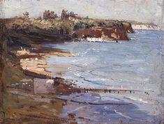 Arthur Streeton-Beaumaris 1907 Abstract Landscape Painting, Seascape Paintings, Artist Painting, Artist Art, Landscape Art, Landscape Paintings, Knife Painting, Oil Paintings, Australian Painting