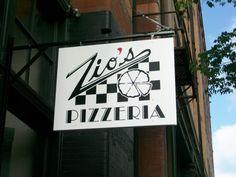 Zios Pizza in Omaha, NE - LOVE it!  I especially love chicken pesto pizza!