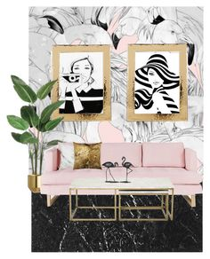 Touches of Gold by kaelamorae on Polyvore featuring polyvore interior interiors interior design home home decor interior decorating Gus* Modern Serax Tizo Design chic gold pastel interiordesign homedecor