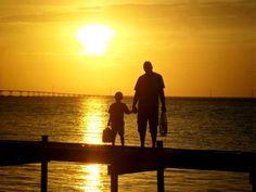 sunset, florida, st. george island, fishing, family