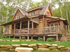 Awesome Rustic Log Cabin Homes Design Ideas. Below are the Rustic Log Cabin Homes Design Ideas. This post about Rustic Log Cabin Homes Design Ideas was posted under the Decoration category by our team at April 2019 at am. Hope you enjoy it and don& . Log Cabin Living, Log Cabin Homes, Log Cabins, Log Cabin Exterior, Prefab Cabins, Cozy Homes, Mountain Cabins, Mountain Living, Mountain Homes