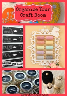 Organize Your Craft Room–8 Quick DIY Projects