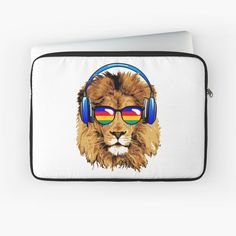 Lion Design, Back To Black, Laptop Case, Laptop Sleeves, Chill, Plush, My Arts, Art Prints, Printed