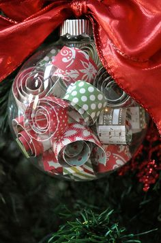 Under The Table and Dreaming: Curled Paper Strip Ornaments featuring Mandy from Little Birdie Secrets {Handmade Ornament No.3}
