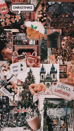 Wallpaper Collage, Holiday Wallpaper, Iphone Background Wallpaper, Disney Wallpaper, Handy Wallpaper, December Wallpaper, Fall Wallpaper, Christmas Collage, Cosy Christmas