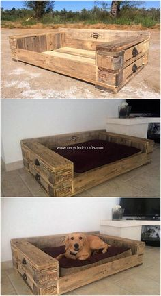 Latest DIY Wood Pallet Ideas That Will Make You Fall in Love Bett ideen Wood Pallet Projects Bett DIY Fall ideas Ideen Latest love Pallet Wood Free Wooden Pallets, Diy Wood Pallet, Pallet Dog Beds, Recycled Pallets, Diy Pallet Projects, Wooden Diy, Pallet Ideas, Wood Pallets, Wood Projects
