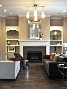 Serene Living Room - contemporary -Rebekkah Davies Interiors + Design-Sherwin Williams Temperate Taupe-Benjamin Moore match Sandlot Gray