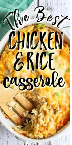Chicken Rice Recipes, Freezer Chicken, Easy Rice Recipes, Easy Casserole Recipes, Baked Chicken, Turkey Chicken, Cheap Recipes, Chicken Ideas, Supper Recipes