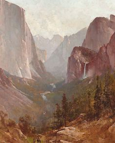 """1,909 Me gusta, 19 comentarios - CHRISTIE'S (@christiesinc) en Instagram: """"Thomas Hill's #Yosemite in honor of today's National Parks Service Centennial. Shop this and more…"""""""