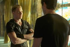 """SHADOWHUNTERS - """"Moo Shu To Go"""" - Alec finds himself torn between duty and loyalty to Jace in """"Moo Shu to Go,"""" an all-new episode of """"Shadowhunters,"""" airing Tuesday, February 9th at 9:00 – 10:00 p.m., EST/PST on Freeform, the new name for ABC Family. (Freeform/Sven Frenzel) DOMINIC SHERWOOD, MATTHEW DADDARIO"""